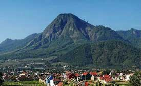 Mt. Panderman seen from Malang city - East Java