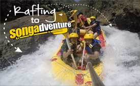 Rafting at the Pekalen river in Condong village - East Java