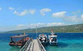 Snorkeling by local boat - Pemuteran, West Bali National Park
