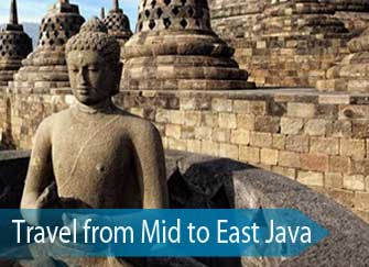 The Borobudur in Central Java - tour: travel from central to east Java