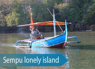 By local boat to Sempu island - Malang south coast, East Java