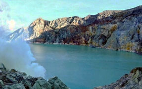 Ijen crater lake - East Java, Indonesia