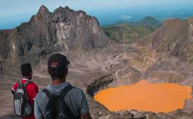 Kelud's crater like. Your reward for hiking mount Kelud.