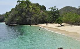Three coloured beach in Malang regency, East Java, Indonesia