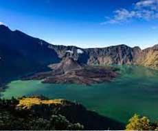 Rinjani crater lake on Lombok - Indonesia